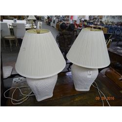 2 Pink Table Lamps- 2 Times the Money