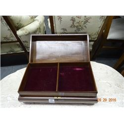 Large Wood Table Jewelry Box