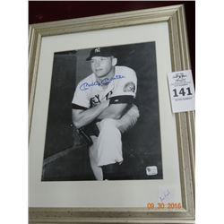 Autographed Framed Mickey Mantle Picture