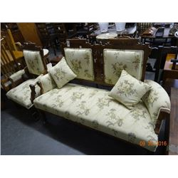 Carved Loveseat & Chair Set