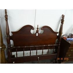 Mahogany Provincial 4-Post Full Bed