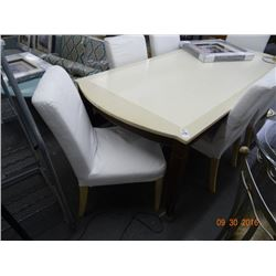 Mahogany & White Dining Table w/6 Chairs