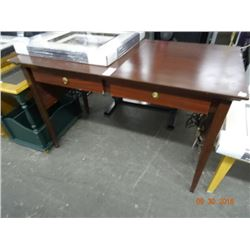 Mahogany Style Secretarial Desk - Chipped Edge