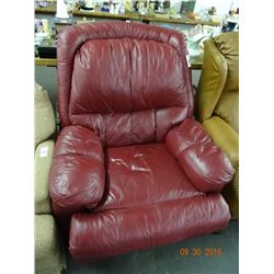 Maroon Leather Recliner