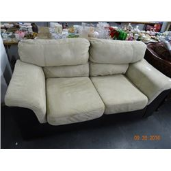 Brown/Tan Microfiber Sofa