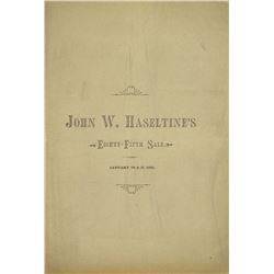 A Nearly Complete Set of Haseltine Sales