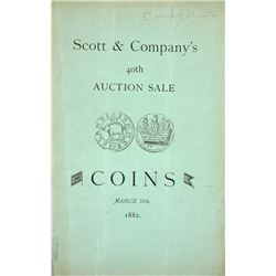 An 1882 Scott Sale with Chromolithographic Plate