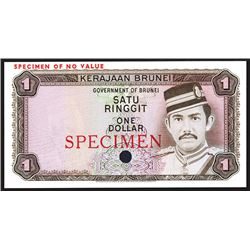 Government of Brunei, ND (1972-88) Color Trial Specimen Banknote.