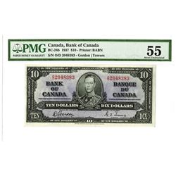 Bank of Canada, 1937 Issued Banknote.