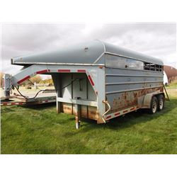 1996 Lift-Off Stock Trailer 5th Wheel, Tandem Axle, 16' (VIN 2LSS1G7G7SP000530)