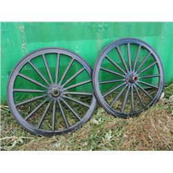 "New Wooden Wheels 39"" End to End (2)"