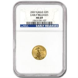 2007 (1/10 oz) Gold Eagle-MS-69 NGC