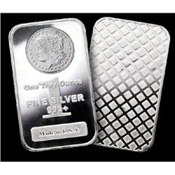 (2) Silver Bars - Morgan Design