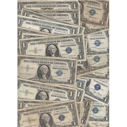 100 Silver Certificates - circulated