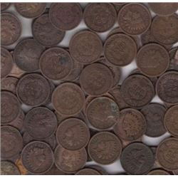 Lot of (100) Circulated Indian Head Cents