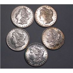 Lot of 5 UNC Morgans - Random