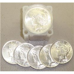 Roll of 1922-1923 UNC Peace Dollars