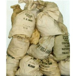 (1) Bank Bag of 1000 Mixed Date US SIlver Dollars