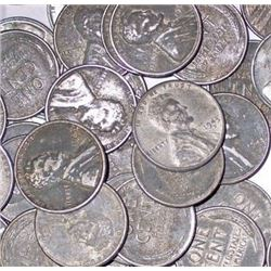 Lot of 100 Steel WWII Cents