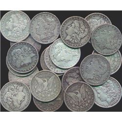 Lot of 20 Morgan Silver Dollars XF or Better
