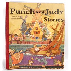 "ANTIQUE ""PUNCH AND JUDY STORES"" HARDCOVER BOOK"