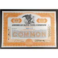 VINTAGE AMERICAN BANK NOTE CO. STOCK CERTIFICATE