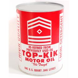 TOP-KIK MOTOR OIL ADVERTISING CAN