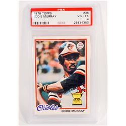 1978 TOPPS EDDIE MURRAY #36 BASEBALL CARD - PSA VG-EX 4