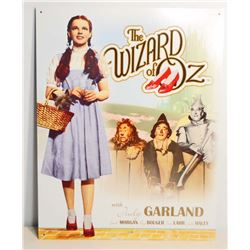 WIZARD OF OZ METAL ADVERTISING SIGN - 12.5X16