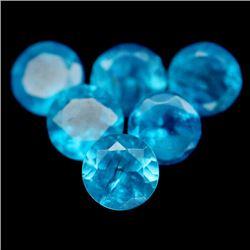 7.62 CT NATURAL! 55PCS BLUE MADAGASCAR APATITE ROUND