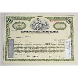 VINTAGE ACF INDUSTRIES AMERICAN CAR AND FOUNDRY STOCK CERTIFICATE