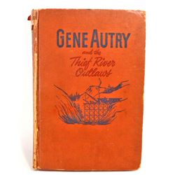 """1944 """"GENE AUTRY AND THE THIEF RIVER OUTLAWS"""" HARDCOVER BOOK"""