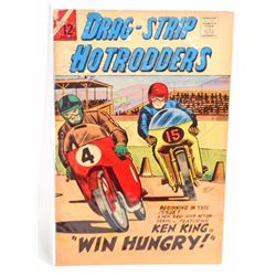 1966 DRAG-STRIP HOT RODDERS NO. 12 COMIC BOOK - 12 CENT COVER
