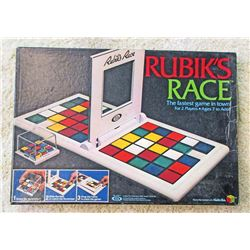VINTAGE 1982 RUBIKS RACE BOARD GAME IN ORIG. BOX
