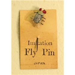 EARLY JAPANESE FLY ON ORIGINAL CARD