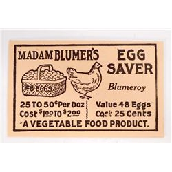 VINTAGE MADAM BLUMERS EGG SAVER ENVELOPE