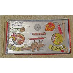 VINTAGE GILBERT HALL OF SCIENCE PARTY PUZZLES IN ORIG. BOX