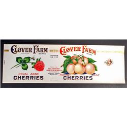 EARLY LARGE CLOVER FARMS BUMBLE BEE ROYAL ANNE CHERRIES LABEL