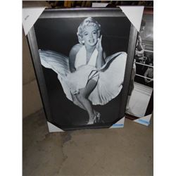 FRAMED MARYLIN MUNROE PICTURE 28 X 40