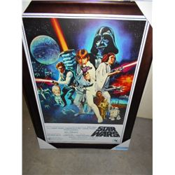 FRAMED STAR WARS PICTURE 28 X 40