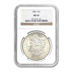 1886 $1 Morgan Silver Dollar NGC MS63