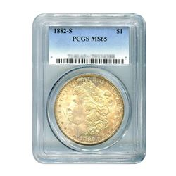 1882-S $1 Morgan Silver Dollar - PCGS MS65