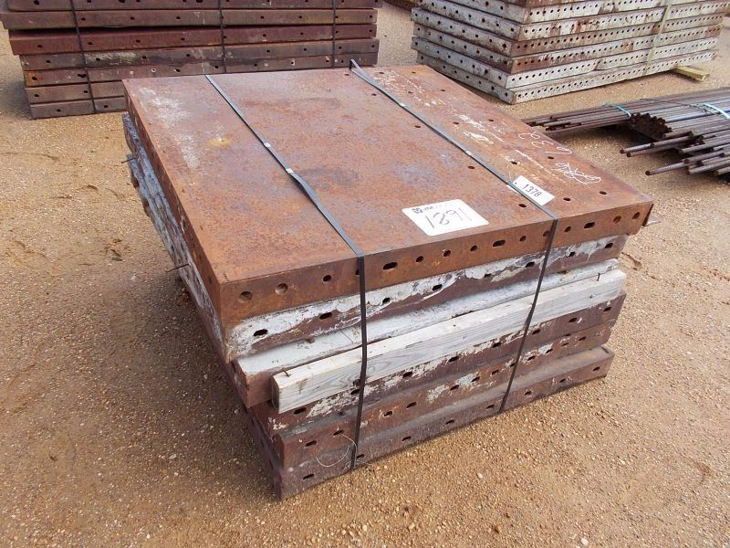 Steel Concrete Forms : X metal concrete forms j m wood auction company