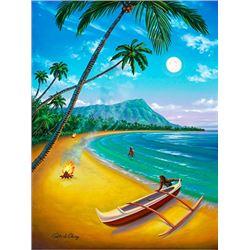 Diamond Head Moon - KAI Waikiki Ocean Art Show, Patrick Ching 2016