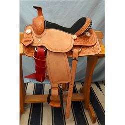 "Morris Saddlery, Caballo, NM, 12"", junior roper, double rig, brand new"