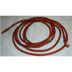 Braided leather lariat, light weight