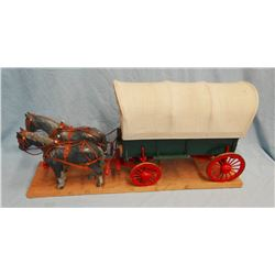 Covered wagon wooden model