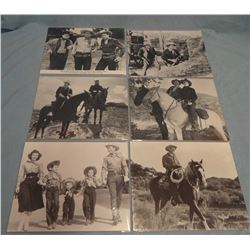 Asst'd movie photos, Roy Rogers, John Wayne, Gene Autry, Dale Evans, Gabby Hayes, etc. (6)