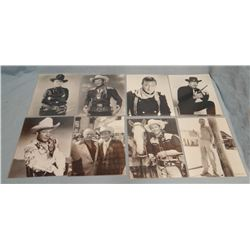 Asst'd movie photos, Roy Rogers, John Wayne, Hoot Gibson, Richard Boone, James Dean (8)