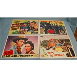 "Asst'd movie posters, Roy Rogers, 11"" x 14"" (4)"